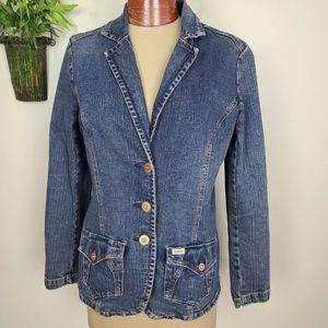 Levi's Signature Denim Jean Blazer Jacket Blue M